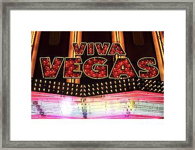 Viva Vegas Framed Print