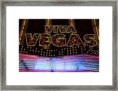 Viva Vegas Neon Framed Print by Bob Christopher