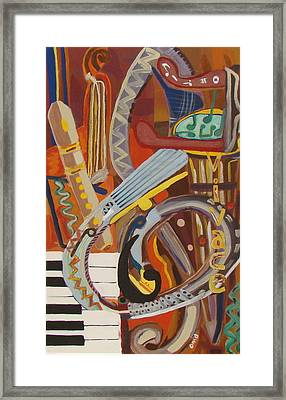 Vivace I Framed Print by Olivia  M Dickerson