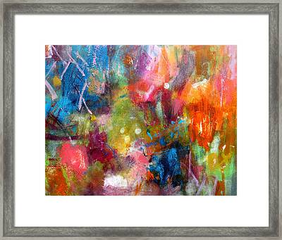 Framed Print featuring the painting Vivacious by Katie Black