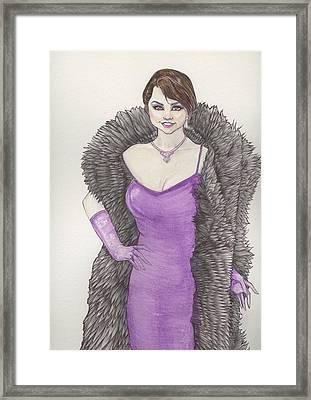 Vivacious Samantha Framed Print
