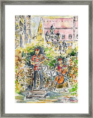 Vivaldi In The Shade Of Saint Laurence Church Nuremberg Framed Print