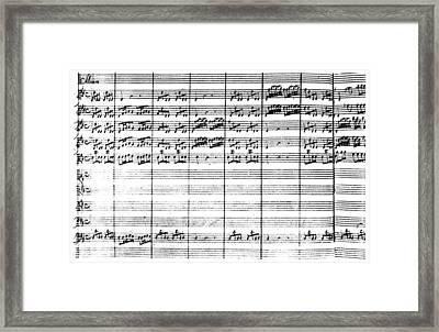Vivaldi Manuscript Framed Print by Granger
