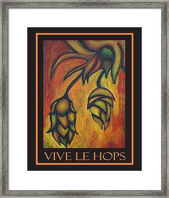 Vive Le Hops In Black Framed Print by Alexandra Ortiz de Fargher