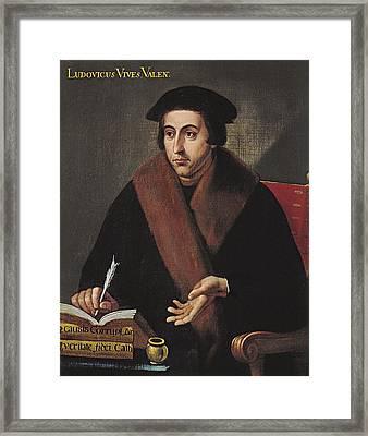 Vives, Juan Luis 1492-1540. Humanist Framed Print