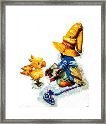 Vivi And The Chocobo Framed Print by Joe Misrasi