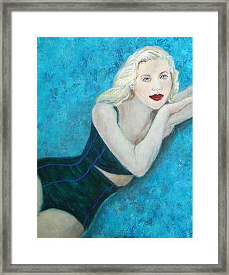Vivian Lady Of The Lake Framed Print by The Art With A Heart By Charlotte Phillips