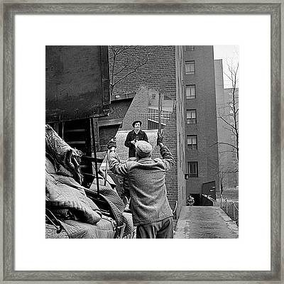Vivian Maier Self Portrait Probably Taken In Chicago Illinois 1955 Framed Print by David Lee Guss