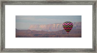 Vivid Balloon Panorama Framed Print by Kate Sumners