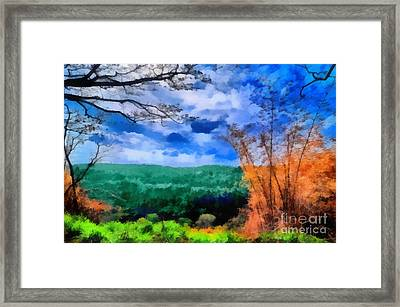 Vivid Landscape Framed Print by George Paris