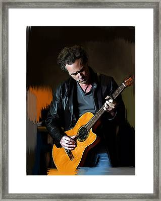 Vivid  Lindsey Buckingham  Framed Print by Iconic Images Art Gallery David Pucciarelli