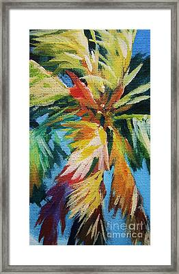 Vivid Palm Framed Print by John Clark