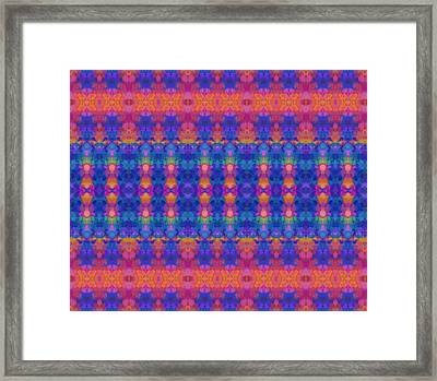 Vivid Stripe Abstract Framed Print