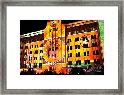 Vivid Sydney 2014 - Museum Of Contemporary Arts 2 By Kaye Menner Framed Print by Kaye Menner