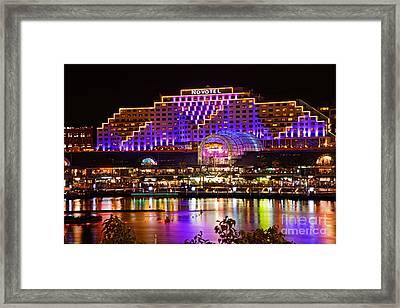 Vivid Sydney 2014 - Novotel By Kaye Menner Framed Print by Kaye Menner
