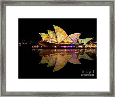 Vivid Sydney 2014 - Opera House 6 By Kaye Menner Framed Print by Kaye Menner