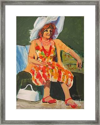 Vivid Vivian Framed Print by Katrina West