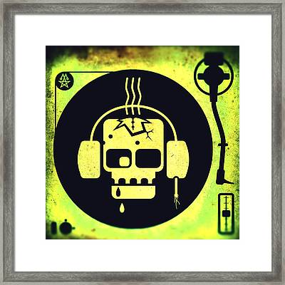 Vivid Zombie Turntable Framed Print by Milton Thompson