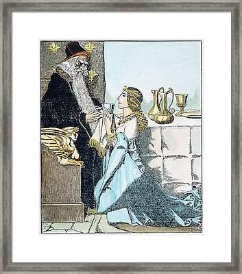 Vivien Bewitches Merlin Framed Print
