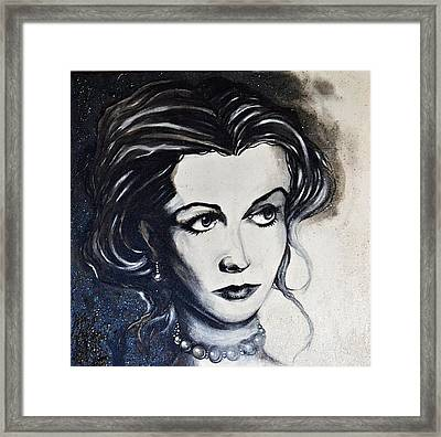 Framed Print featuring the painting Vivien L. by Sandro Ramani