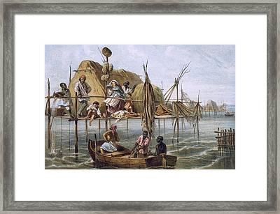 Vivienda De Los Pescadores De Esponjas Framed Print