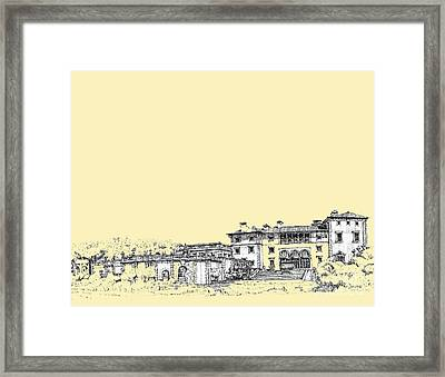 Vizcaya In Cream  Framed Print by Building  Art