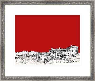 Vizcaya In Red Framed Print by Building  Art