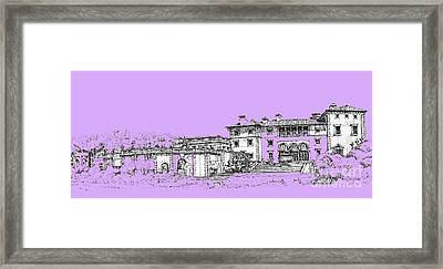 Vizcaya Museum And Gardens In Lilac Framed Print by Building  Art
