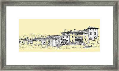 Vizcaya Museum And Gardens In Peachy Cream Framed Print by Building  Art