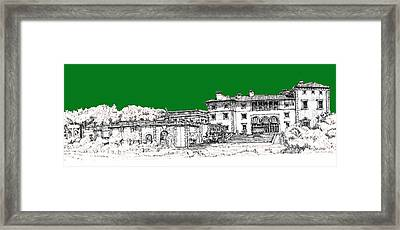 Vizcaya Museum And Gardens In Pine Green Framed Print by Building  Art