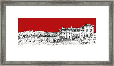 Vizcaya Museum And Gardens Scarlet Framed Print by Building  Art