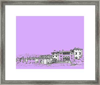 Vizcaya Museum In Lilac Framed Print by Building  Art