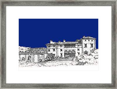 Vizcaya Museum In Royal Deep Blue Framed Print by Building  Art