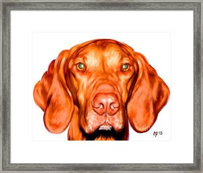 Vizsla Dog Art Portrait Framed Print by Iain McDonald