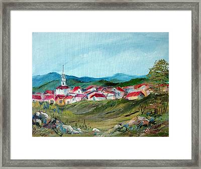 Vladeni Ardeal - Village In Transylvania Framed Print