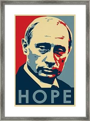 Vladimir Putin Hope Framed Print by Krystal