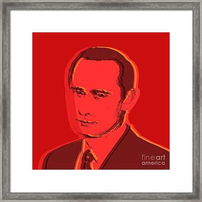 Vladimir Putin Framed Print by Jean luc Comperat