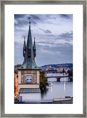 Vltava River In Prague Framed Print