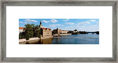 Vltava River, Prague, Czech Republic Framed Print