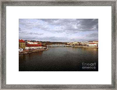 Vltava River View Framed Print by John Rizzuto