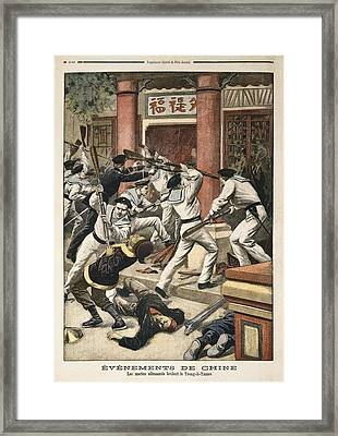 �v�nements De Chine Les Marins Framed Print by Everett