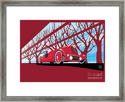 Vntage Racer Framed Print