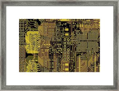 Vo96 Circuit 5 Framed Print by Paul Vo
