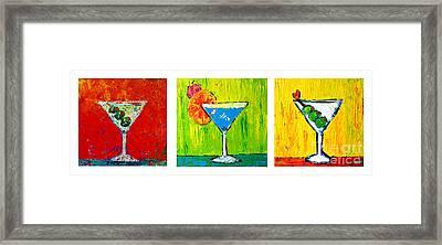 Vodka Martini Collection Bar Decor - Modern Art Framed Print