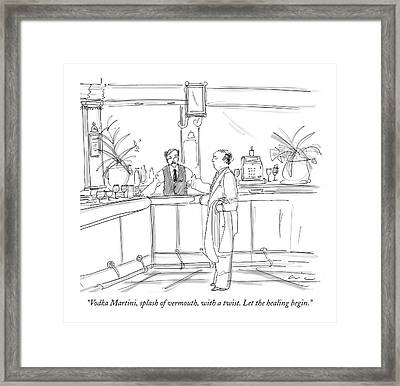 Vodka Martini Framed Print by Richard Cline