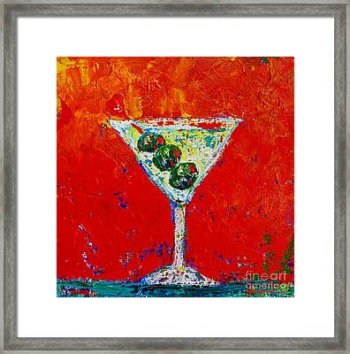 Vodka Martini Shaken Not Stirred - Martini Lovers - Modern Art Framed Print
