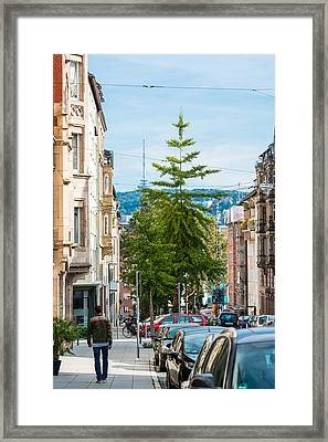 Vogelsangstrasse - Stuttgart - Germany Framed Print by Frank Gaertner