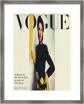Vogue Cover Featuring A Distorted Image Framed Print by Erwin Blumenfeld