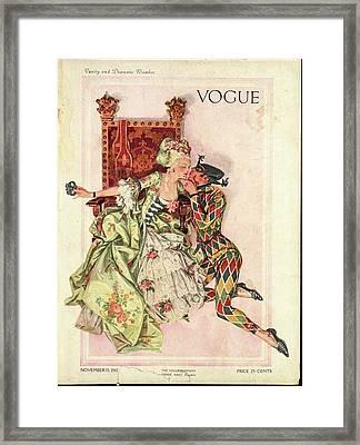 Vogue Cover Featuring An Eighteenth Century Framed Print by Frank X. Leyendecker