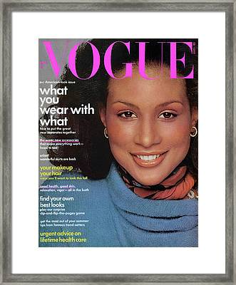 Vogue Cover Featuring Beverly Johnson Framed Print by Francesco Scavullo